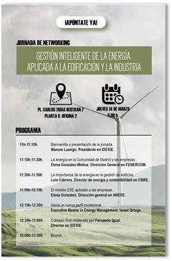 """Jornada de Networking sobre """"Gestión inteligente de la energía aplicada a la edificación y la industria"""""""